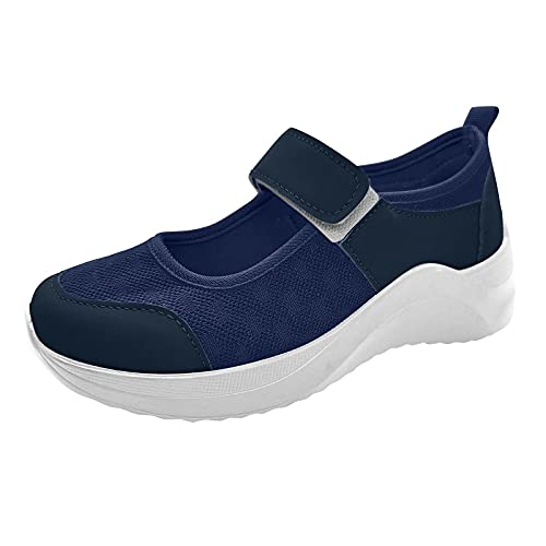 Zapatillas Running Mujer Zapatos Malla de Mujer de Velcro Deportivo de Calzado Casual Ligero Aire Libre y Deporte Transpirables Casual Zapatos Gimnasio Correr Sneakers Zapatillas de Deportivo