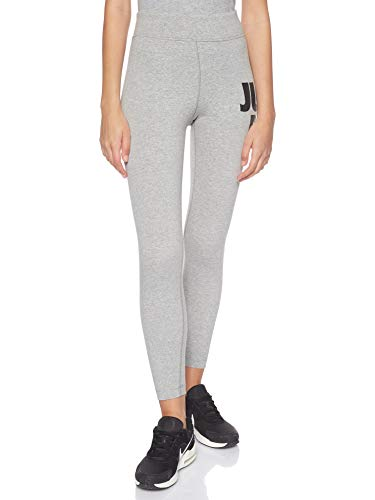 Nike Womens Sportswear Leg-A-See JDI Leggings, Dark Grey Heather/Black, L