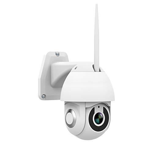 SUN JUNWEI 1080P Las cámaras de Seguridad al Aire Libre WiFi Seguridad para el Hogar con Pan/Tilt Vista de 355 °, IP66 a Prueba de Agua, visión Nocturna, detección de Movimiento, Audio de 2 vías