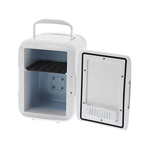 QIRG Mini Nevera, Refrigerador al Aire Libre Compacto portátil del Almacenamiento de la Medicina del Coche de 4L Refrigerador pequeño Control de Temperatura Digital de Belleza Personal para el hogar