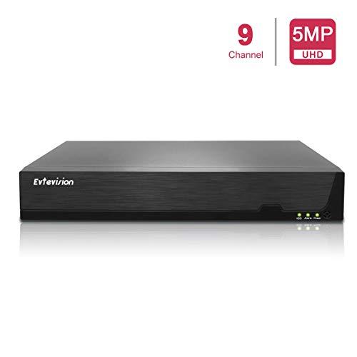 lookcctv NVR 9CH 5MP Network Video Recorder 9 Canales H.265 CCTV NVR NO HDD Compatible con Onvif P2P Easy Remote View Salida HDMI//VGA
