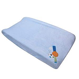 Coral Velvet Nursery Diaper Changing Table Cover Baby Girl Baby Boy Diaper Changing Pad Cover 1PC (Light Blue Sports)