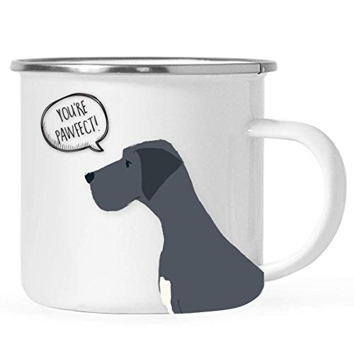 10 ounces. Roestvrijstalen kampvuur koffiemok cadeau, zwarte Duitse dogge die je bent Pawfect!, grappig woordspel, 1 pak…