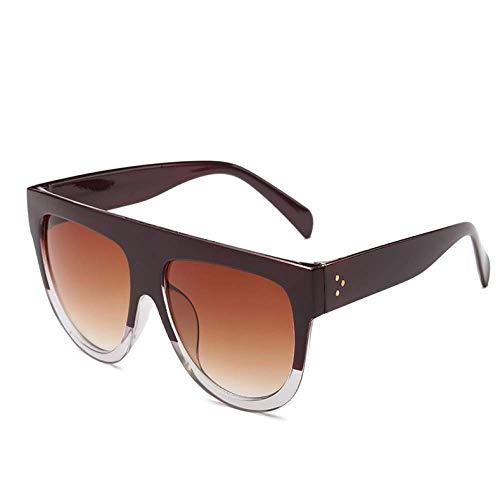 THJM Occhiali Da Sole Con Montatura Grande Occhiali Da Sole Rotondi Con Personalità Della Moda 14.1X14.5CM