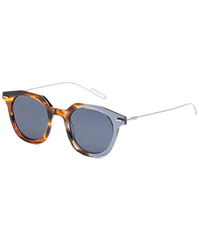 Dior DIORMASTER KU AB8 Gafas de Sol, Gris (Havana Grey/Blue Blue), 47 para Hombre
