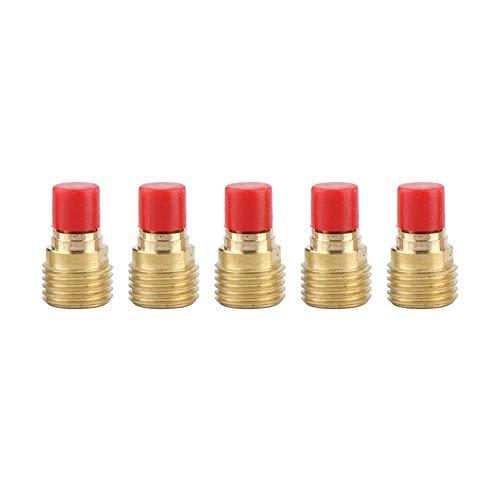 Cuerpo de boquilla de lente de gas, cuerpo de boquilla 45V44 Cuerpo de boquilla de lente de gas 2,4 mm 3/32'para antorcha de soldadura TIG WP-9/20/25 (5PCS)
