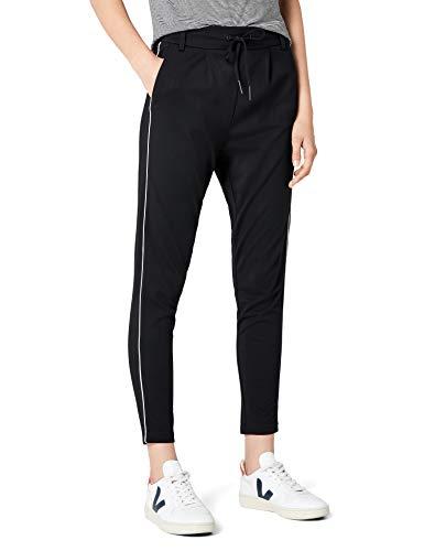 ONLY Damen onlPOPTRASH Piping Pant NOOS Hose, Schwarz (Black), 36/L30 (Herstellergröße: S)