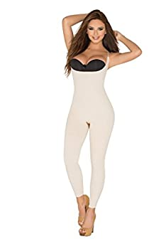 Girdle Faja for Women high Compression Braless Body Shaper Capri Lenght Below The Kn…