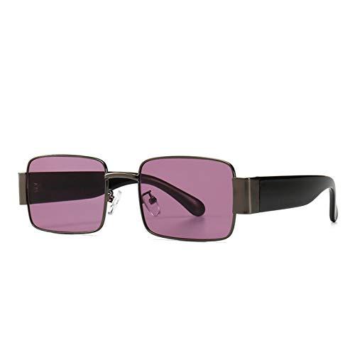 Gafas de estilo retro Steam Gafas de sol punk de metal ligero Gafas de sol cuadradas para hombre Lentes de color para mujer