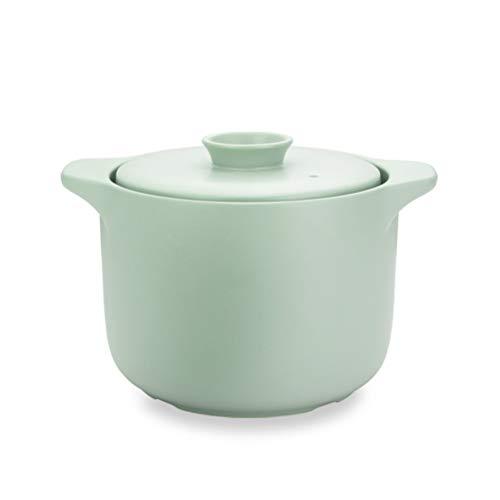 WKDZ Cerámica Cacerola Tapa y Almacenamiento térmico a Eliminar el Exceso de Vapor, la cazuela de la Cocina casera Restaurante, Apto for lavavajillas (Color : Verde)