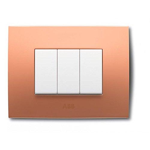 ABB 2CSK0312CH Chiara PLACCA 3 Moduli Arancione Pastello