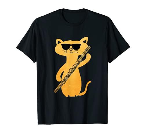 Flauta travesera de regalo para gatos. Camiseta