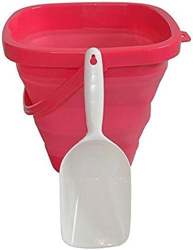 AquaVault Packable Pails. Collapsible Beach Bucket with Shovel- Paradise Rosa by Packable Pails