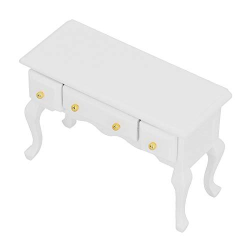 Holzpuppenhaus Schreibtisch Puppenhaus Schreibtisch Puppenhaus Tisch DIY Holz Puppenhaus Montage für Mädchen