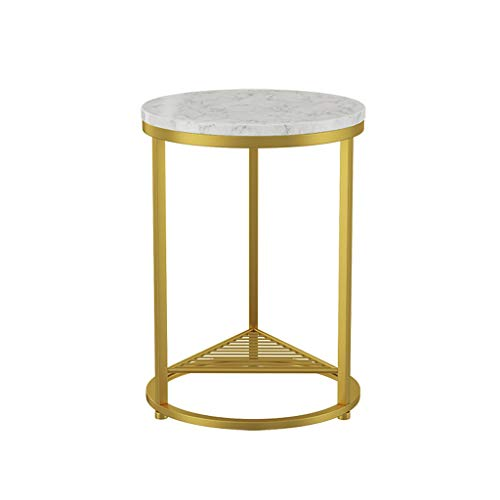 yaya salontafel Scandinavische eenvoudige smeedijzeren marmer salontafel zijbank woonkamer gouden eindtafel creatieve ronde thee tafel bijzettafels