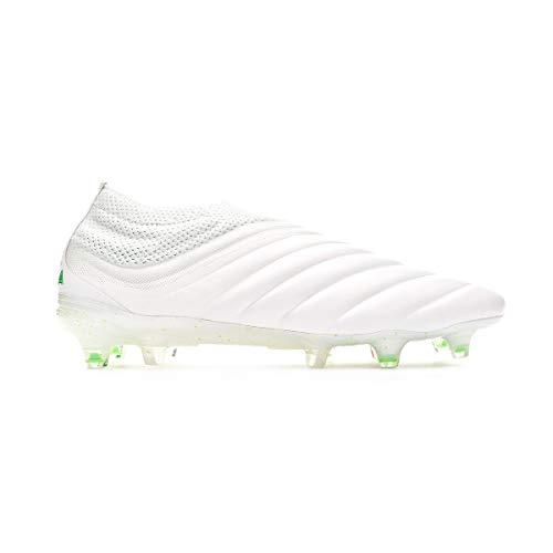 adidas Copa 19+ FG, Bota de fútbol, White-Solar Lime, Talla 11.5 UK (46 2/3 EU) ⭐