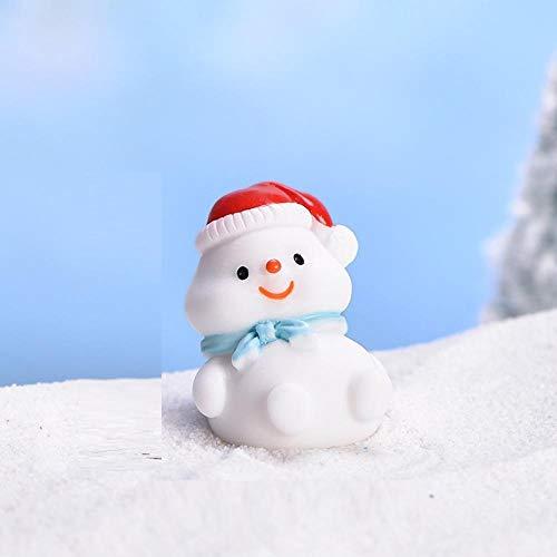 BBKX Estatua Jardin Santa Claus Lindo muñeco de Nieve Micro Paisaje DIY Bonsai decoración decoración de Nieve león Marino decoración de Navidad