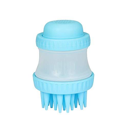 Lavuky DP07 Huisdier Badborstel, Zachte Siliconen Verzorging Douche Massage Scrubber Tool met Shampoo voor katten, Honden - Blauw
