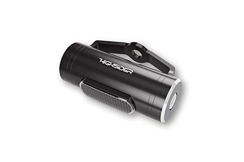 HIGHSIDER LED arrière CONERO T1, boîtier rond aluminium, noir/verre fumé, E Certifié