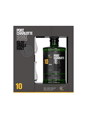 Bruichladdich Port Charlotte Heavily Peated Whisky 10 Jahre 0,7l + 2 Gläser