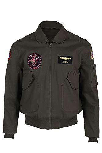 MingoTor Top Gun Maverick Pilot Jacke Cosplay Kostüm Schwarz Herren S