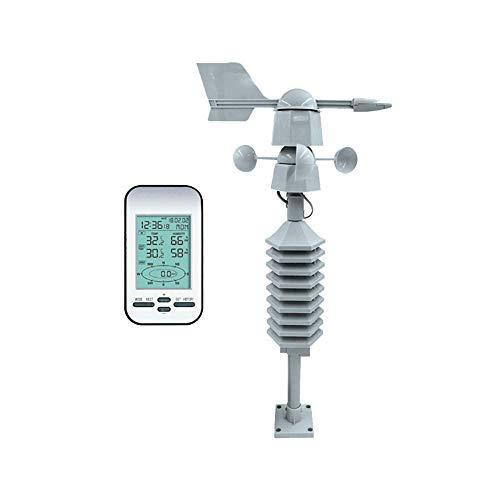 XQK Estación Meteorológica Inalámbrica Mini Estación Meteorológica Resistente A La Intemperie Medidor De Humedad De Temperatura De Enfriamiento del Viento Digital con Sensor De Velocidad del Viento