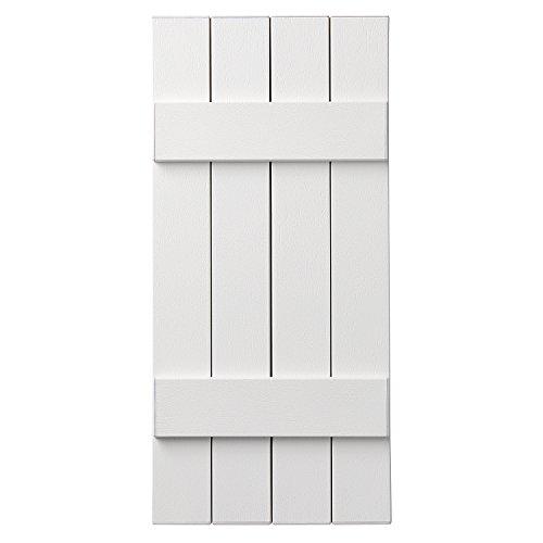 Ply Gem Shutters and Accents VIN4C1543 11 4 Board Closed Board & Batten Shutter, White