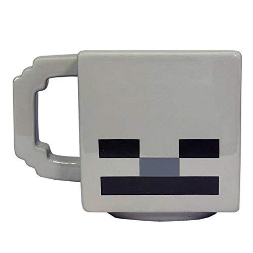 Minecraft - Taza personaje Skeleton (Tamaño Único) (Gris)
