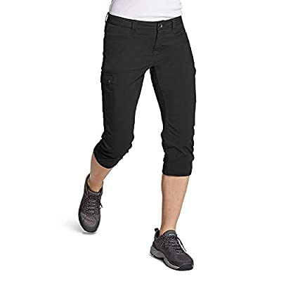Eddie Bauer Women's Horizon Capris, Black Regular 12