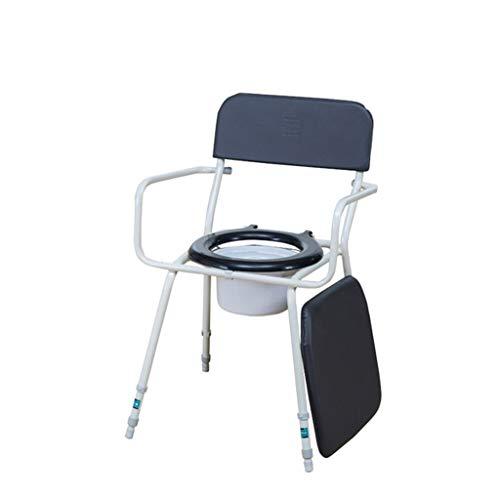 Yuany Toilet stoel, Commode stoel lederen kussen voor ouderen gehandicapte zwangere vrouwen verplaatsen toilet kruk 51 * 51cm stoel