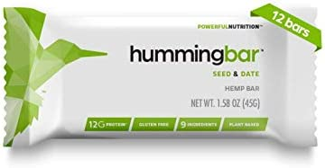 Humming Hemp hummingbar Seed and Date Protein Bars 12g Plant Based Protein Snacks Keto Friendly product image