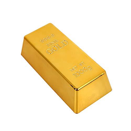 xinzhi Gold Brick Bullion Türstopper Creative Golden Plastik Briefbeschwerer Simulation #1hollow