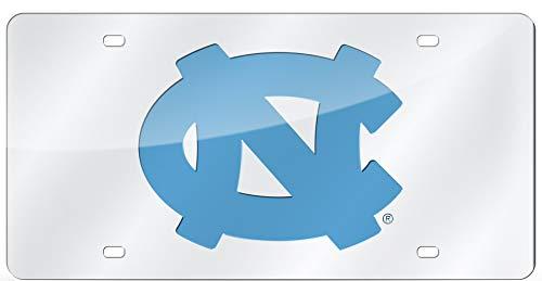 University of North Carolina UNC Tar Heels Thick Acrylic Laser Cut Silver License Plate