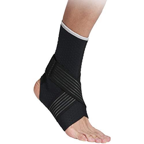 LF- Enkel Muay Thai Boxing Voet Bandage Bandage Ankle Bandage Pressure Fighting Voet Pols Cover Bescherm enkels (Color : Black, Size : 24-25.5cm)