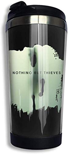Qurbet Mug de Voyage, Nothing But Thieves Coffee Cups Stainless Steel Water Bottle Cup Travel Mug Coffee Tumbler with Spill Proof Lid
