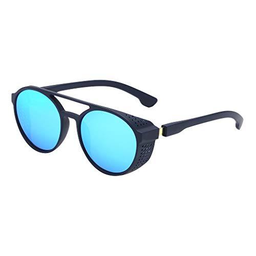 Gafas de Sol Retro Polarizado Simplicidad y Moda Gafas Sunglasses Polarizadas Clásico Retro Gafas de sol para Hombre UV400 Protection Deporte Gafas de Conducción (Azul)