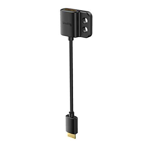 SMALLRIG Cable Adaptador HDMI 4K Ultradelgado, HDMI Hembra Tipo A a Mini-HDMI...