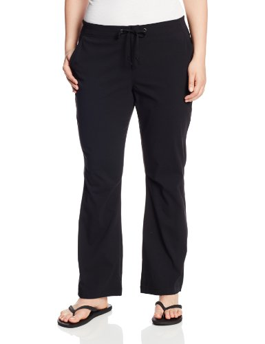 Columbia Women's Anytime Outdoor Plus Size Boot Cut Pant, Black, 16W Regular