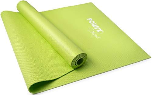 POWRX Yogamatte Größe: ca. 173 cm x 61 cm x 0,4 cm (Grün)