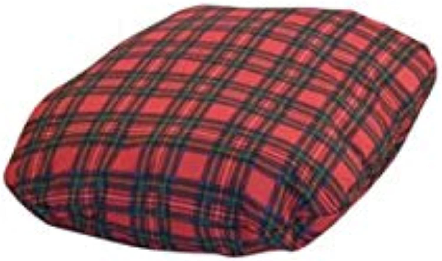 Classic Tartan Pattern Rectangle Shaped Mattress For Pets (Material  Polyester, color  Black Red) (Size 2 (63 cm x 86 cm))