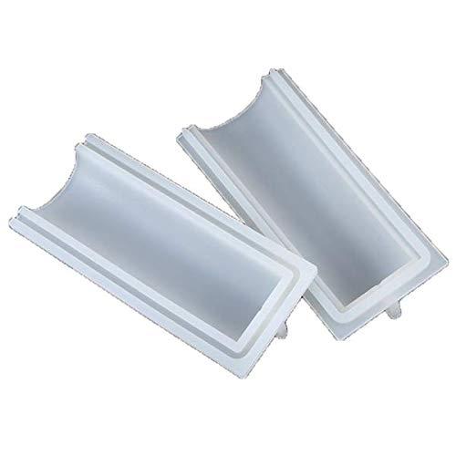 Haudang Moule à savon en silicone - 1000 ml - Forme arrondie - Forme cylindrique - Processus de fabrication à froid