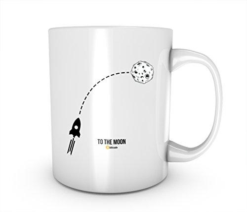 To The Moon Artwork Bitcoin Cryptocurrency Blockchain Crypto Btc Keramik Tasse Kaffee Tee Becher Mug