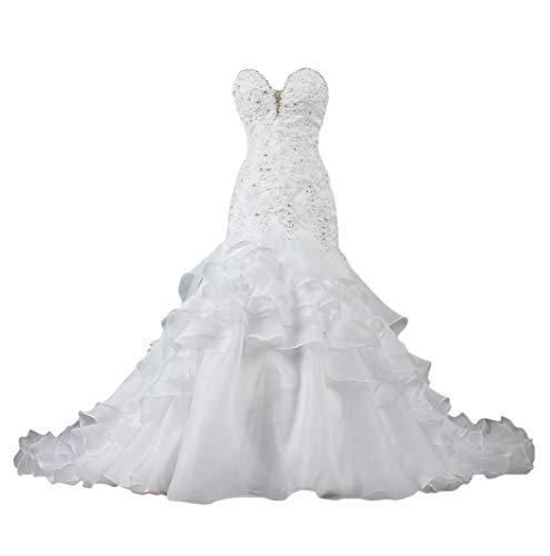 Forever Pretty bruidsjurken bruiloftsjurk lange applicaties bruidsjurk zeemeermin bruidsmode stadesamt bruiloftsjurk met sleep