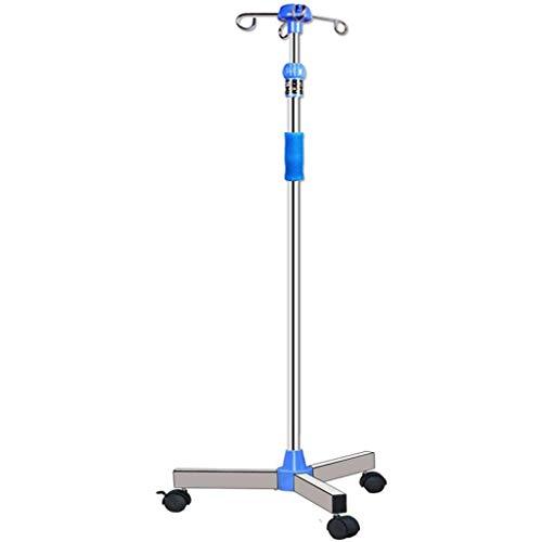 YXWJ Carrello Medico per Carrello Medico per Ospedale IV, Supporto per infusione a Goccia Regolabile in Altezza, Portatile
