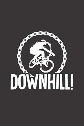 Meine Radtouren: Dokumentiere deine Fahrrad, Mountainbike, Rennrad Touren und Ausflüge ♦ Tagebuch für über 100 Touren ♦ Verbessere deine Fitness und Ausdauer ♦ 6x9 Format ♦ Motiv: Downhill 18