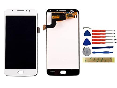 Yixi Display per Motorola Moto E (4th Gen.) E4 XT1766 XT1767 XT1763 XT1762 Schermo LCD Bianco Touch Screen Digitizer Ricambio Ricambi No Frame