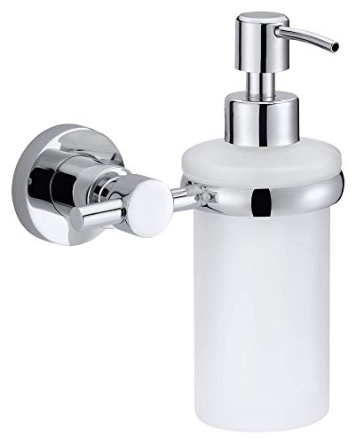 Price comparison product image tesa Loxx No Drill,  Wall Mounted Soap Dispenser,  Chrome-plated metal,  Removable Adhesive Glue Technology