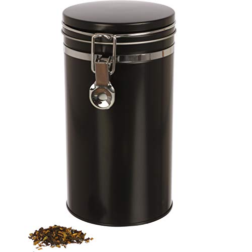 Dosenritter | Kaffeedose/Vorratsdose mit Bügelverschluss und Silikondichtung, luftdicht aus Metall für 500g Kaffeepulver | 20 x 10.4cm (H,ø) | auch ideal als Mehl- oder Reisdose
