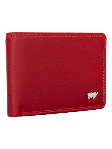 BRAUN BÜFFEL Geldbörse Golf 2.0 - aus echtem Leder - 4 Fächer Rot