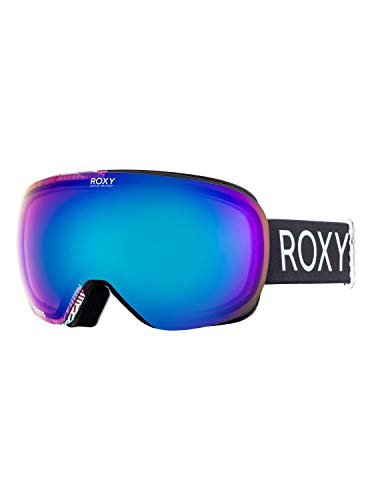 Roxy Damen Schneebrille Popscreen True Black/Pop Snow Lines